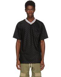 John Elliott - Black Soccer T-shirt - Lyst