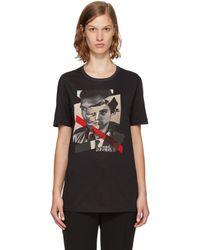 Neil Barrett - Black 'freedom Fighters' Hybrid T-shirt - Lyst