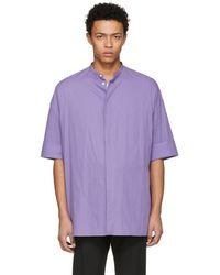Haider Ackermann - Purple Oversize Shirt - Lyst