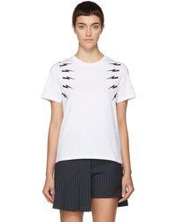 Neil Barrett - White Fair Isle Sleeve T-shirt - Lyst