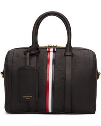 Thom Browne | Black Small Unstructured Holdall Bag | Lyst
