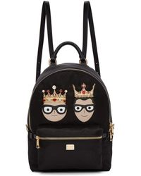 Dolce & Gabbana - Black Nylon King Dgfamily Backpack - Lyst