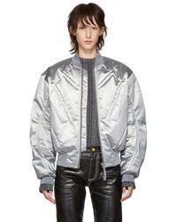 GmbH - Silver Nico Bomber Jacket - Lyst