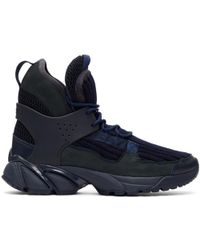 Undercover - Navy Junya Watanabe Edition Knit High-top Sneakers - Lyst