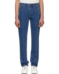 Y. Project | Blue Multi Zips Jeans | Lyst