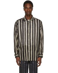 Tomorrowland - Black And White Striped Big Shirt - Lyst