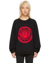 Balmain - Black And Red Coin Logo Sweatshirt - Lyst