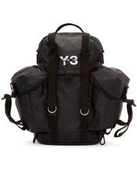 fb50bfe45f8 Y-3 - Black Xs Utility Backpack - Lyst