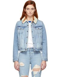 Levi's - Indigo Denim Sherpa Original Trucker Jacket - Lyst