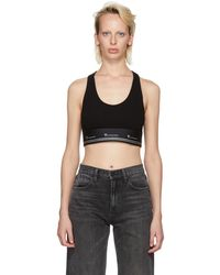 T By Alexander Wang - Black Compact Sports Bra - Lyst