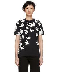McQ - Black Swallow Signature T-shirt - Lyst