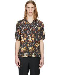 McQ Alexander McQueen | Black Short Sleeve Floral Billy Shirt | Lyst