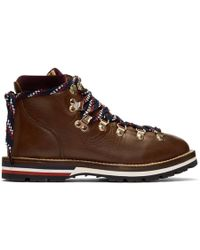 Moncler - Brown Blanche Hiking Boots - Lyst