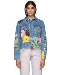 Loewe - Indigo Paulas Ibiza Edition Patchwork Denim Jacket - Lyst