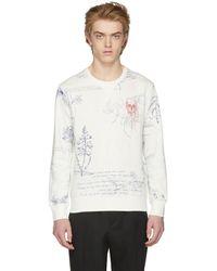 Alexander McQueen - White Explorer Sweatshirt - Lyst