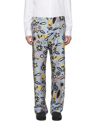 Fendi - Blue Floral Pyjama Trousers - Lyst