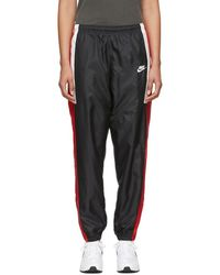 Nike - Black And Red Nsw Re-issue Track Pants - Lyst
