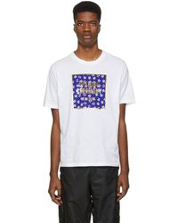 Opening Ceremony - White Floral Box Logo T-shirt - Lyst