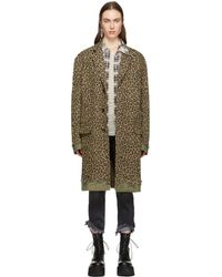 R13 - Leopard Shredded Coat - Lyst