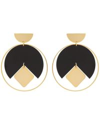 Isabel Marant - Gold And Black Seriously Earrings - Lyst
