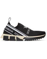 Dolce & Gabbana - Black Logo Sorrento Sneakers - Lyst