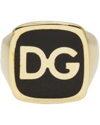 Dolce & Gabbana - Gold 'dg' Ring - Lyst