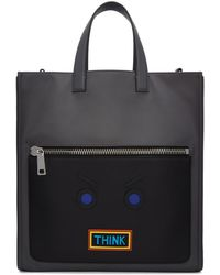 Fendi - Grey ' Faces' 'think' Tote - Lyst
