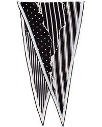 Haider Ackermann - Black And White Striped Amber Diamond Scarf - Lyst