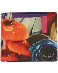 Paul Smith - Multicolor Collage Rose Print Bifold Wallet - Lyst