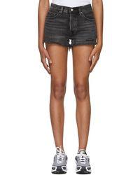 Levi's - Black Distressed 501 Denim Shorts - Lyst