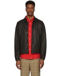 Saturdays NYC - Black Leather Maury Jacket - Lyst
