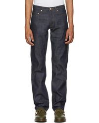 A.P.C. - Indigo Raw New Standard Jeans - Lyst