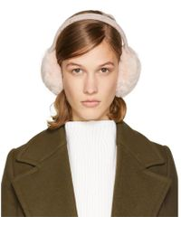 Yves Salomon - Pink Fur Earmuffs - Lyst