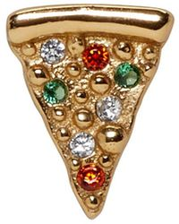 Marc Jacobs - Gold Single Pizza Stud Earring - Lyst