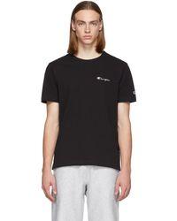 Champion - Black Small Script Logo T-shirt - Lyst