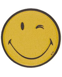 Anya Hindmarch - Yellow Leather Wink Sticker - Lyst