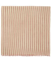 Isabel Marant - Ecru And Red Striped Woody Scarf - Lyst