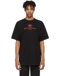 Balenciaga - Black Mode Logo T-shirt - Lyst