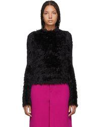 Balenciaga - Black Oversoft Fluffy Sweater - Lyst