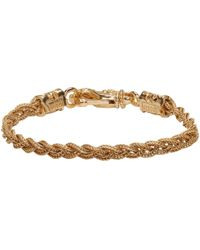 Emanuele Bicocchi   Gold Braided Knots Bracelet   Lyst