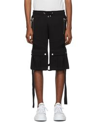 Balmain Short noir Harness