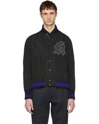 Kolor - Black Logo Patch Bomber Jacket - Lyst