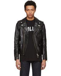 Belstaff - Black Leather Sidmouth Biker Jacket - Lyst