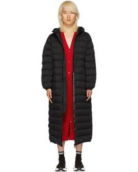 Moncler - Black Down Grue Coat - Lyst