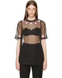 Givenchy - Black Star Necklace T-shirt - Lyst