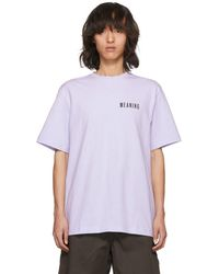Acne Studios - Purple Jaceye Meaning Print T-shirt - Lyst