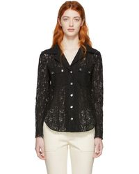 Chloé - Black Lace Shirt - Lyst