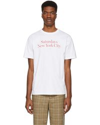 Saturdays NYC - White Miller Standard T-shirt - Lyst