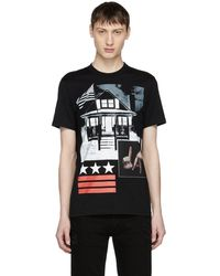 Givenchy - Columbian-fit Printed Cotton-jersey T-shirt - Lyst