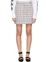 Ashley Williams - White Denim 'boys Girls' Miniskirt - Lyst
